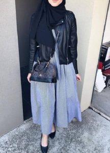 Hijabers Jaket Bomber Wanita + Rok Skinny